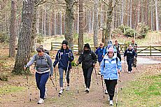 Nordic walking excellent for fat burning and all over conditioning - Click for larger version